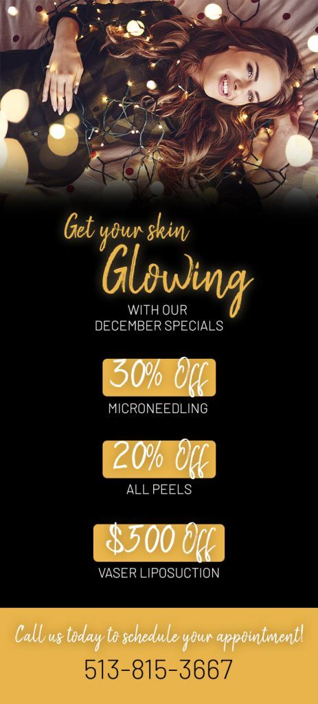 Get your skin GLOWING with our December specials!