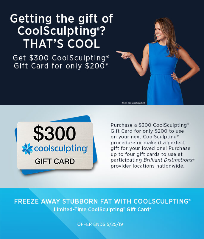 $300 CoolSculpting® Gift Card for only $200!