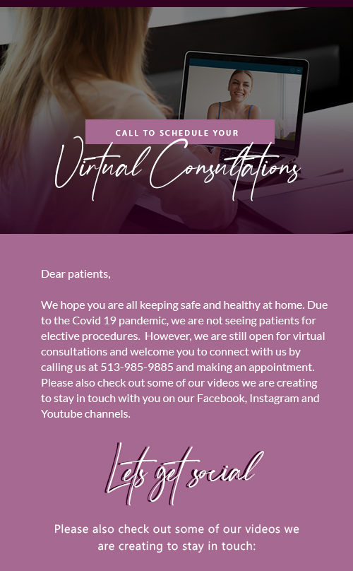 , Now Offering Virtual Consultations 2020